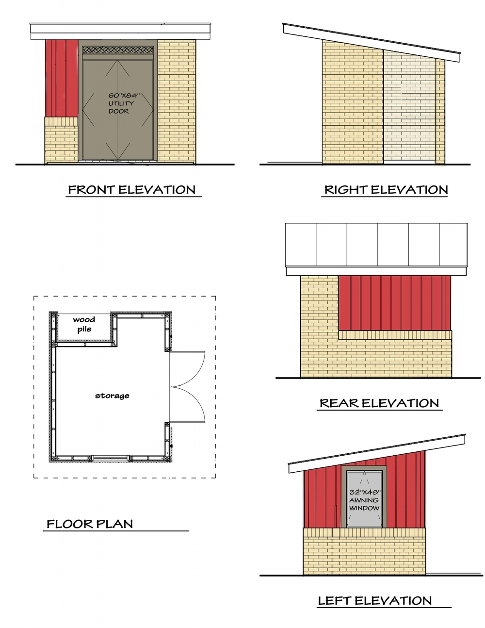 This design for a simple shed complimented the existing Mid Century Remodel near Pittsburgh, PA