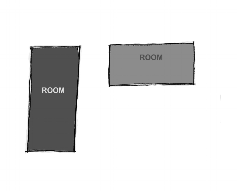 TWO ROOMS IN SPACE