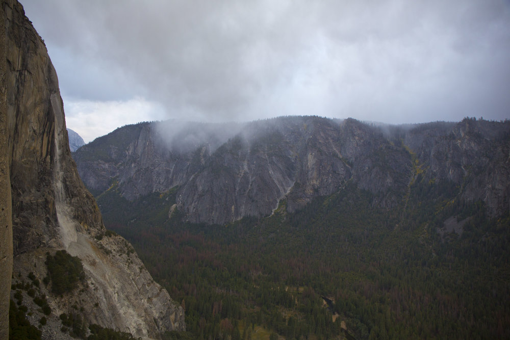 Rock scar as seen from Dolt tower as weather was coming in.
