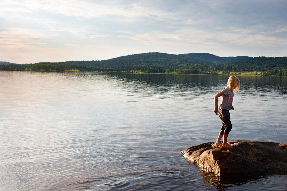 Zwemmen in een van de vele meren