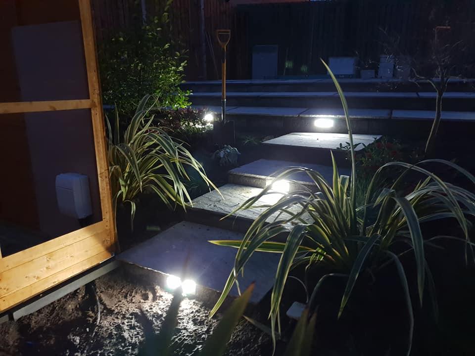 Garden lighting u rg garden design ltd