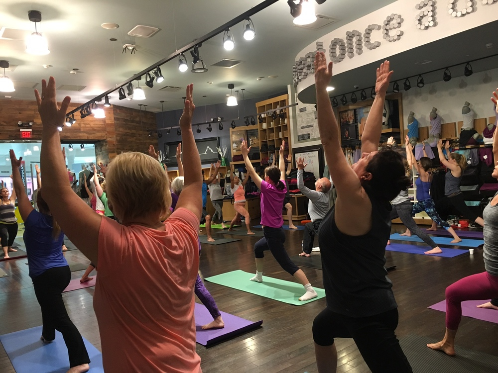 Yoga Class at Lululemon