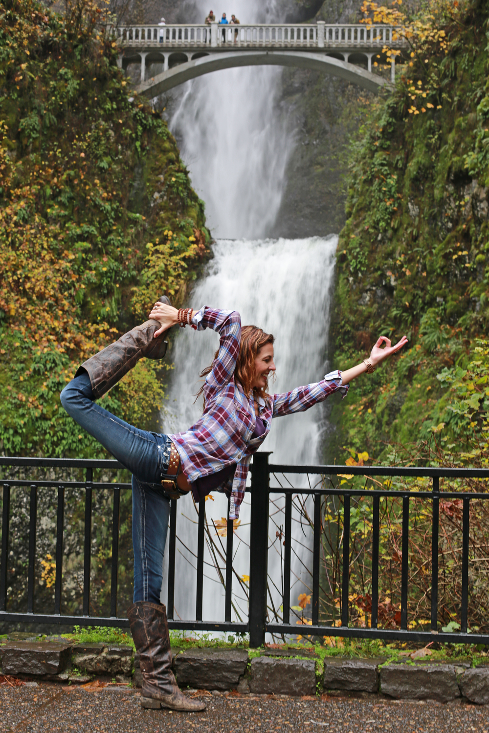 Libby at Multnomah Falls
