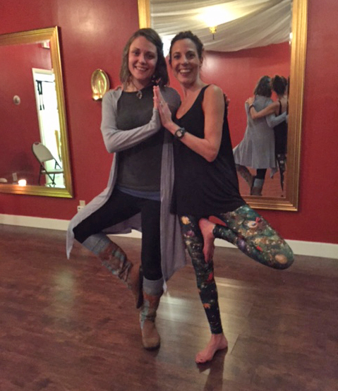 Tina and Libby after an amazing Healing Crystal Workshop.
