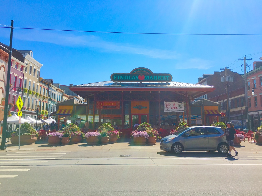 Findlay Market, the oldest farmers market in Ohio. Located in Downtown Cincinnati, it was established in 1852.