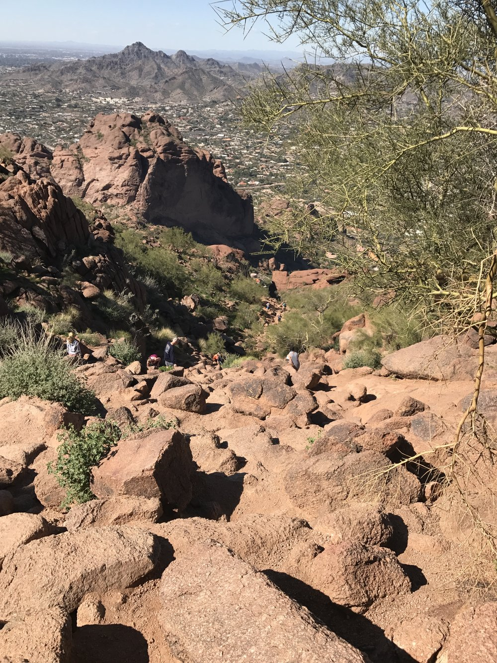 Echo Trail Head at Camelback. The hardest climbs bring the greatest rewards!