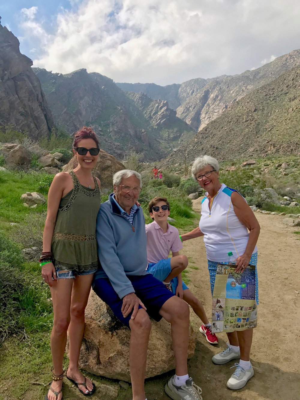 Family time in Palm Springs