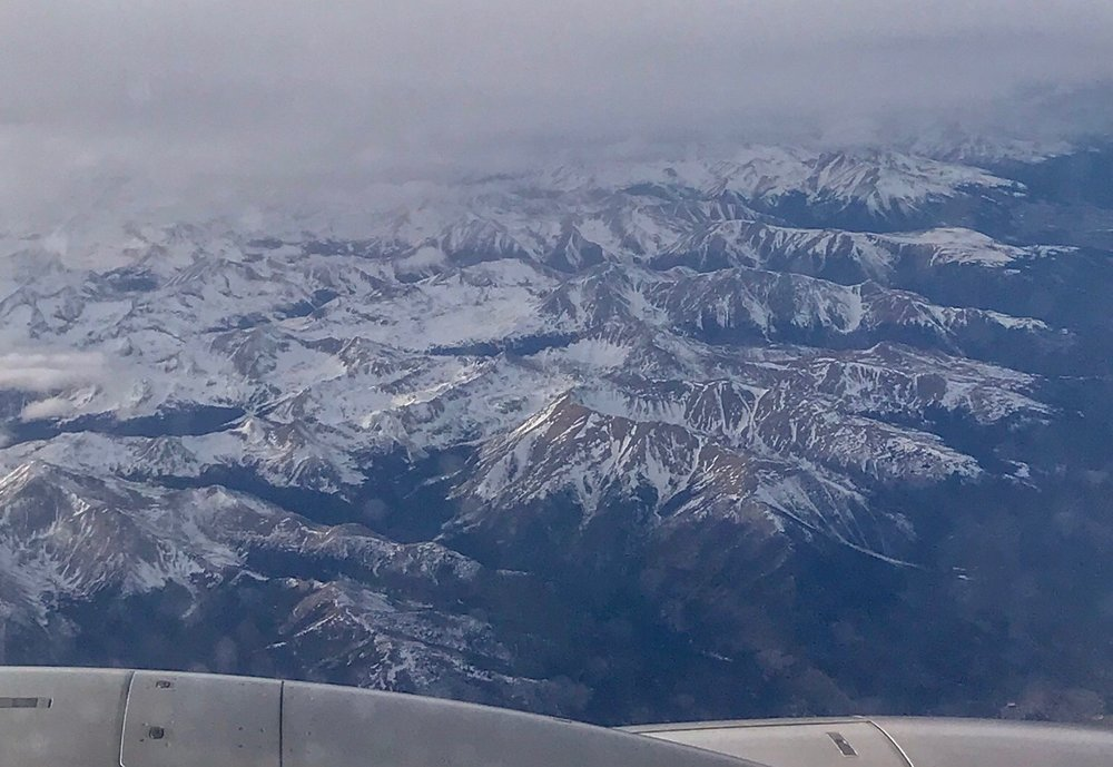 Soaring over the Colorado Rocky Mountains