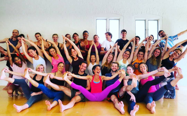 My teacher training crew in July 2016 - front and center is the incomparable, indomitable Kim Manfredi. Follow along on IG.