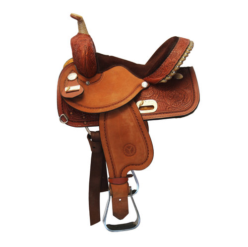 Circle Y Proven Rush Barrel Saddle Horsemen S