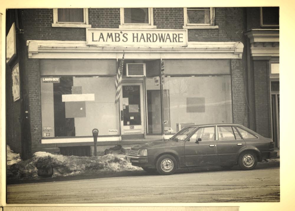 lamb's hardware storefront at 31 Market Street, Saugerties