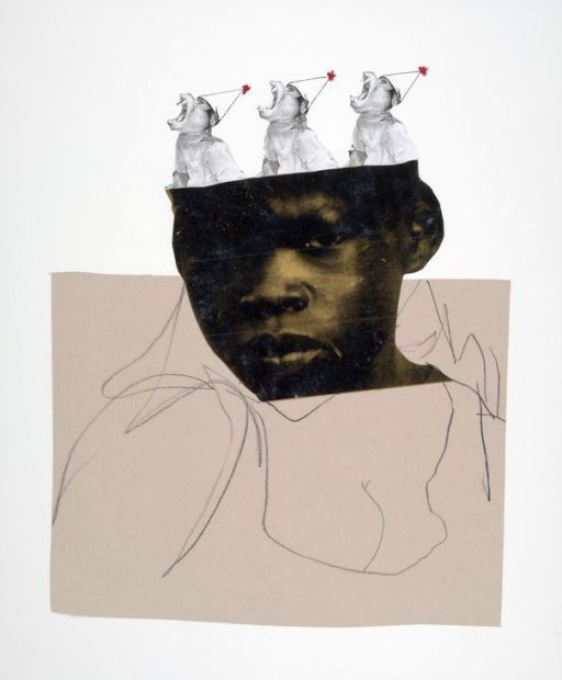 manufactoriel :       Untitled No. 33, by   Deborah Roberts