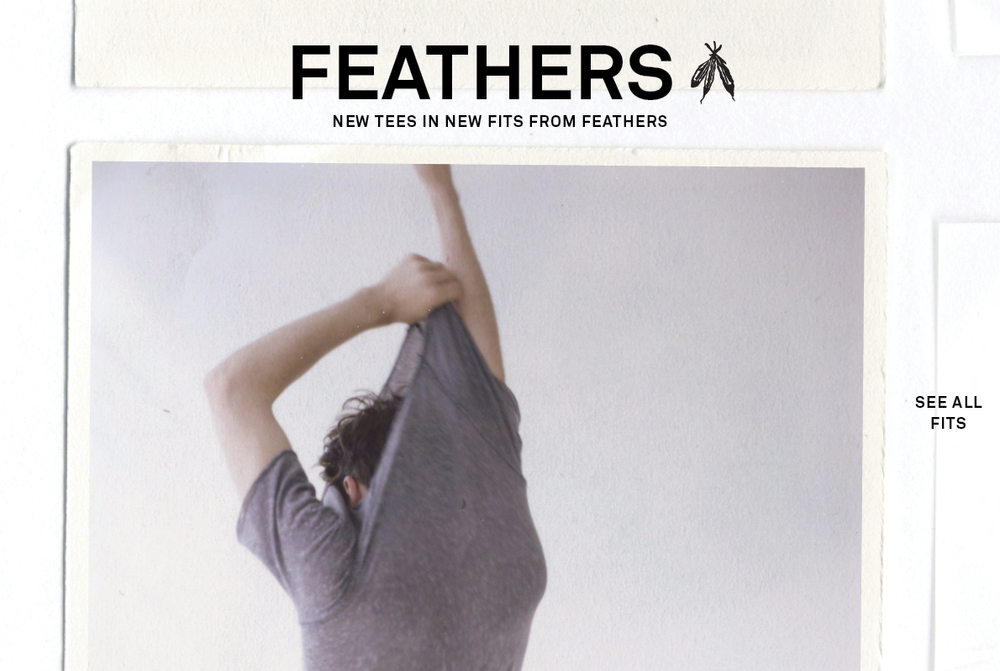 We are IN LOVE with these new FEATHERS tees at UO.