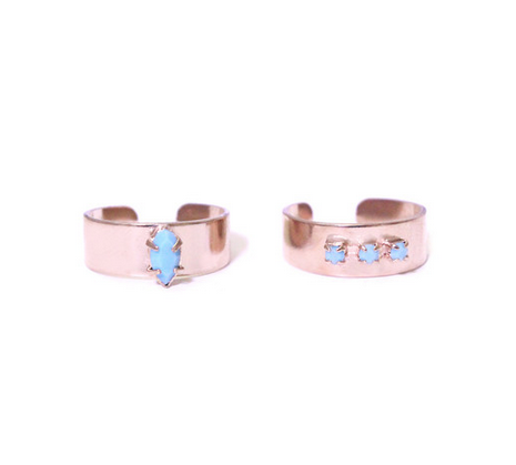 The Turquoise Candy Jewel Ring Duo .  Shop for it  here .