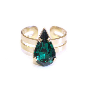 Green Velvet Candy Jewel Ring.  Shop for it here.