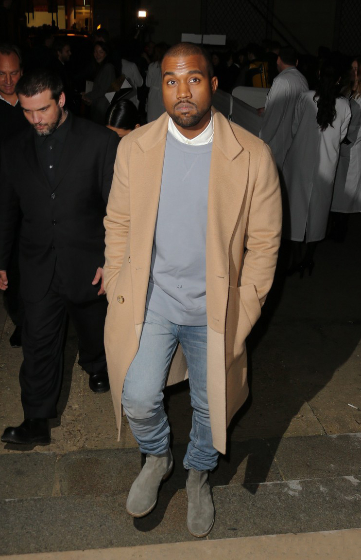 timvogue :      Kanye West at Celine AW14 Show in Paris    Love the colours!