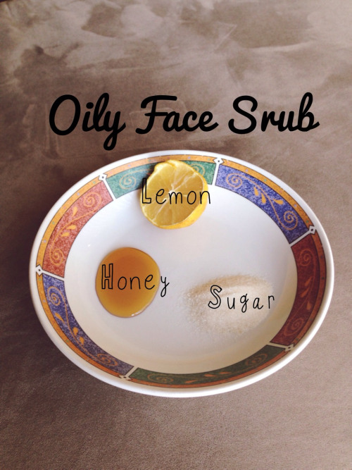Style starts with you.  And  you  are much more than an outfit.  Check out this quick DIY facial scrub to shine your brightest this week.   Love it!    breakfastwithalex :     My face has been super oily lately and I truly think it's because I switched moisturizers. Nevertheless, when oils attack I whip up this face scrub to get the job done. I usually will use it 2 or 3 times a week until my skin balances out.   I also add a splash or two of Apple Cider Vinegar to help with my skin' PH balance.   What you will need:   -Juice from ½ a lemon (keep the lemon after you squeeze the juice. You're going to use it to rub on your face before hand.  -1 1/2 tablespoons of raw cane sugar   -1 tablespoon of honey (to make this vegan you can use coconut nectar or agave nectar)   -½ teaspoon or so of ACV   Mix together well.   Rub the squeezed lemon (not the juice from the mixture) on your face before tossing it.   Apply the mixture of juice, honey, sugar and ACV on your face.   Let sit for 5-10 mins.  Rinse with cool water.   I usually don't apply anything after. The honey leaves my skin pretty moisturized on it's own. Do this 2/3 times a week until you feel your oiliness has calmed down. The lemon will brighten your skin and the sugar will rid any dead skin that was hanging out before hand.
