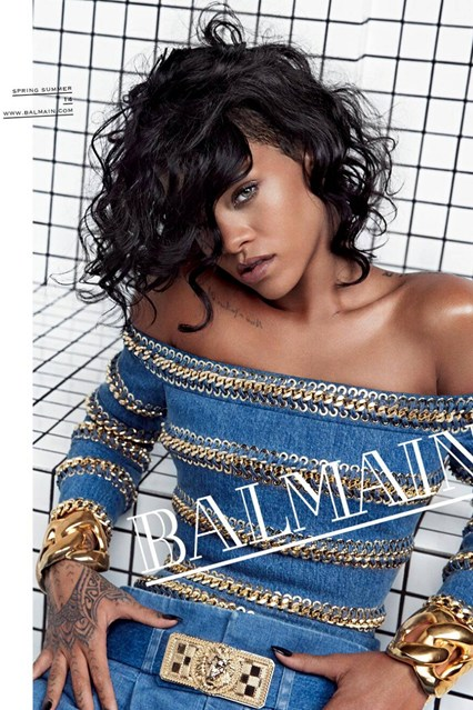 What does Rihanna have to do with #Balmain? Well she's just the face of the 2014 campaign … that's all.