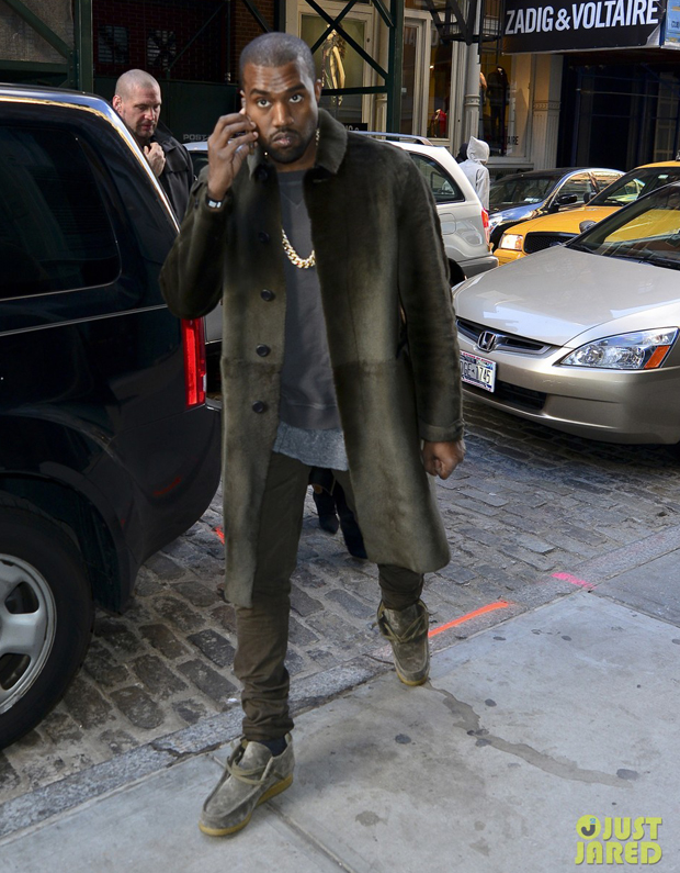 "A.P.C. Founder Confirms Second Collaboration With Kanye Here's a lesson for the kids: rant enough, and things will most likely go your way.  Proving that point, A.P.C.'s founder Jean Touitou has confirmed to Business of Fashion that he and his French ready-to-wear brand are teaming back up with Kanye West for a second capsule collection, after their highly successful collaboration from earlier this year.  The initial team-up, which was unveiled online and at the A.P.C. USA store in mid-July, featured two pairs of Japanese denim, two basic long-sleeve hoodies, three T-shirts, and a basic short-sleeve hoodie, all of which ranged in price from $140 to $280. At the time of its release, Touitou admitted about West's infamous particularity, ""I just love the guy, so whatever."" (source)"