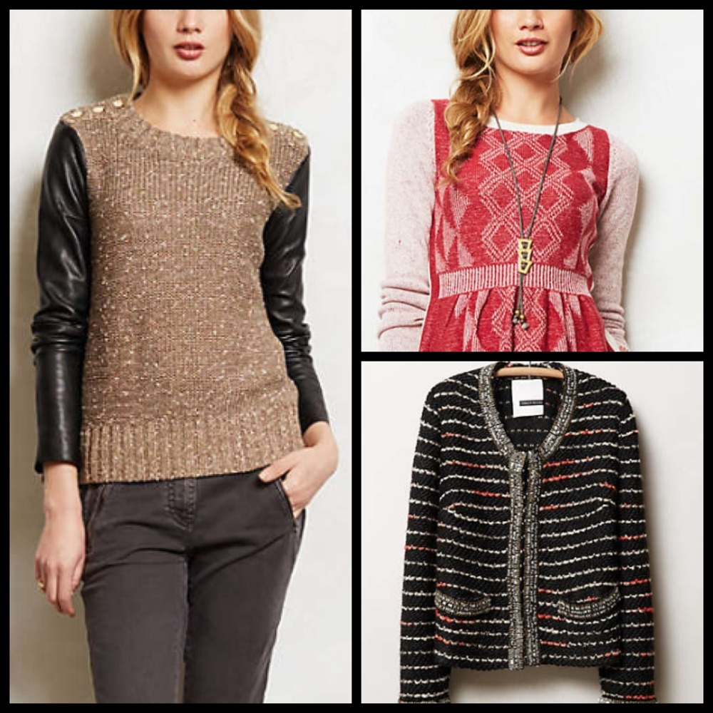 It's that season! Shopping for new sweaters?!   Search no more! —>  http://m.anthropologie.com/mobile/catalog/category.jsp?id=CLOTHES-SWEATERS&fromDesktop=true&cm_mmc=Email-_-102613_hi_low_tod2-_-%2523U00546985-_-shop  <— yea, yea. It's long. Just click it.