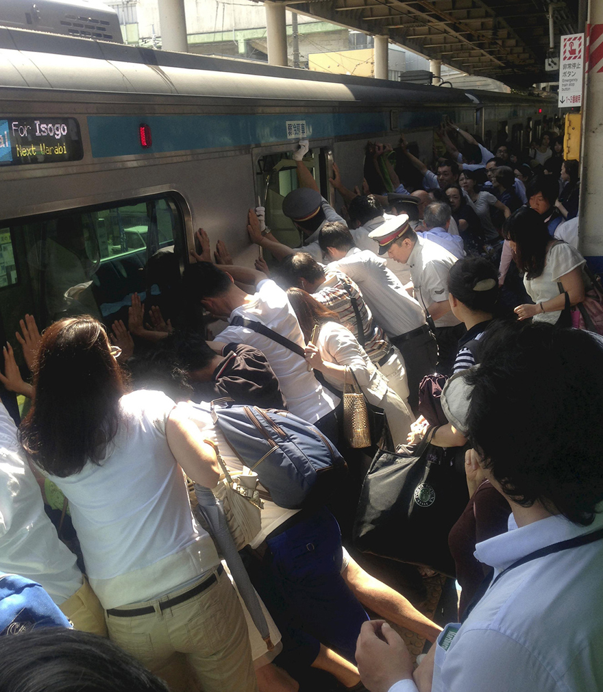 Superpowers of the Crowd: Japanese Commuters Lift Train to Rescue Passenger    -  Adele Peters  posted in  People Are Awesome  ,   Public Transit   and    Japan      When a woman fell under a train car at a station north of Tokyo, everyone on board joined together to lift the 32-ton train up so she could escape. Pretty amazing.     Continue to core77.com