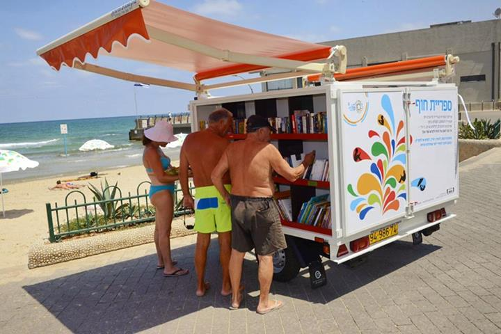 good :        Tel Aviv Opens Its First Public Library With A Sea-View    -  NoCamels  wrote in  Education  ,   Reading   and    Books      The city of Tel Aviv is known for its beaches, offering an array of hangouts and activities to both locals and tourists. Now, the city offers its beach-goers another service – a free public library with books in five languages.     Continue to nocamels.com       It's also home to the creator of our   Galisfly collection!  # NBD