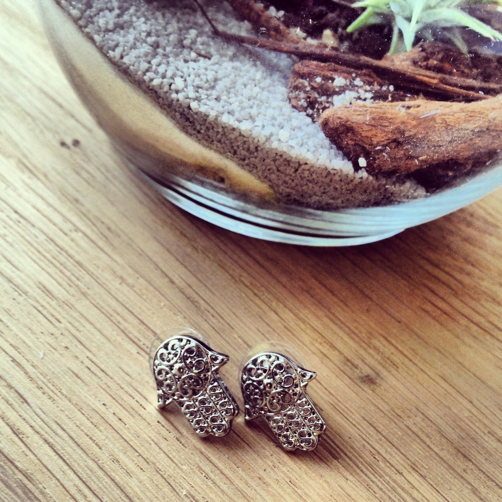 Almost sold out of our hamsa studs!