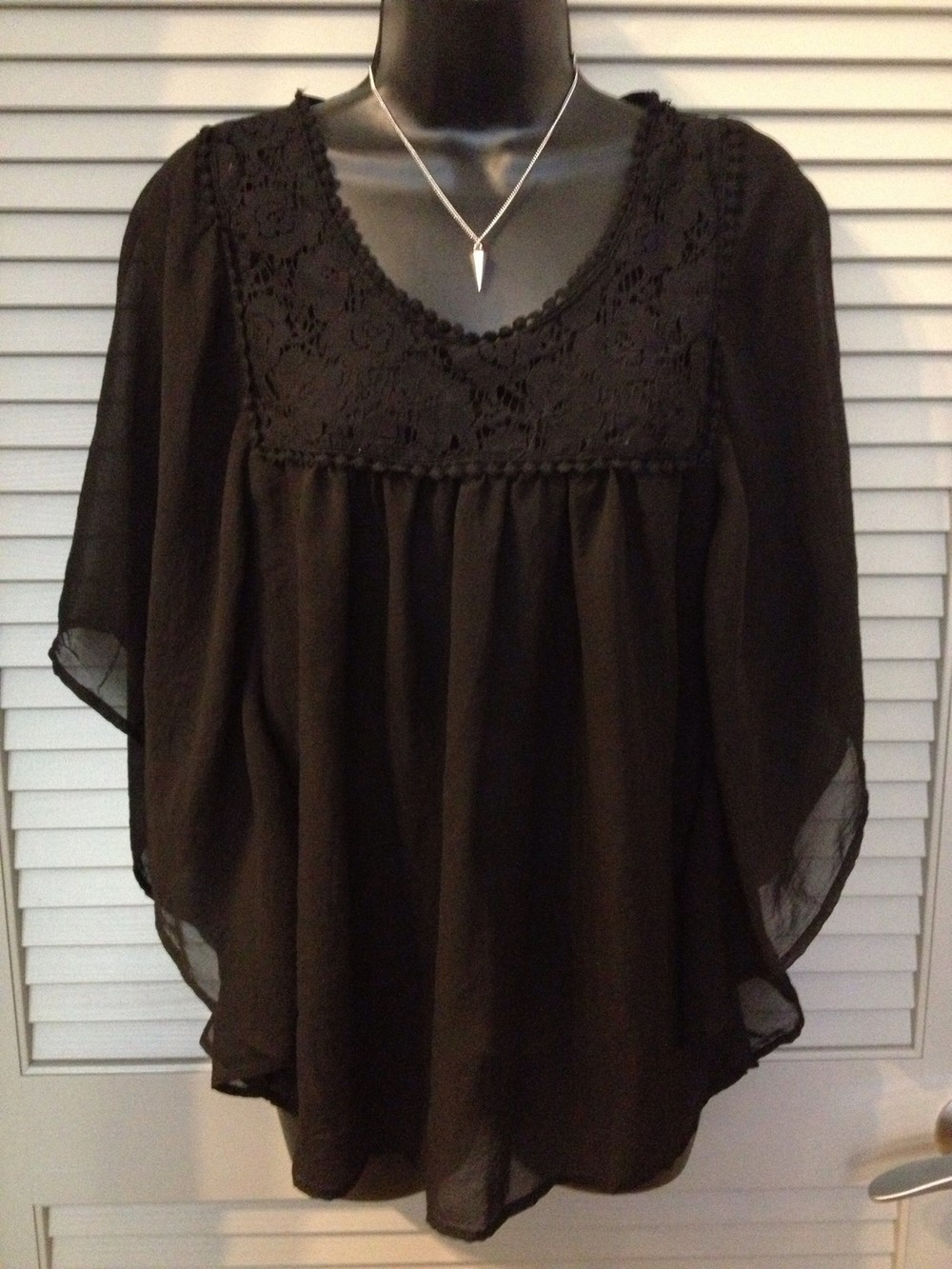 Women's Sheer Black Blouse Click the pic to purchase and enable sustainable food communities in Oakland!