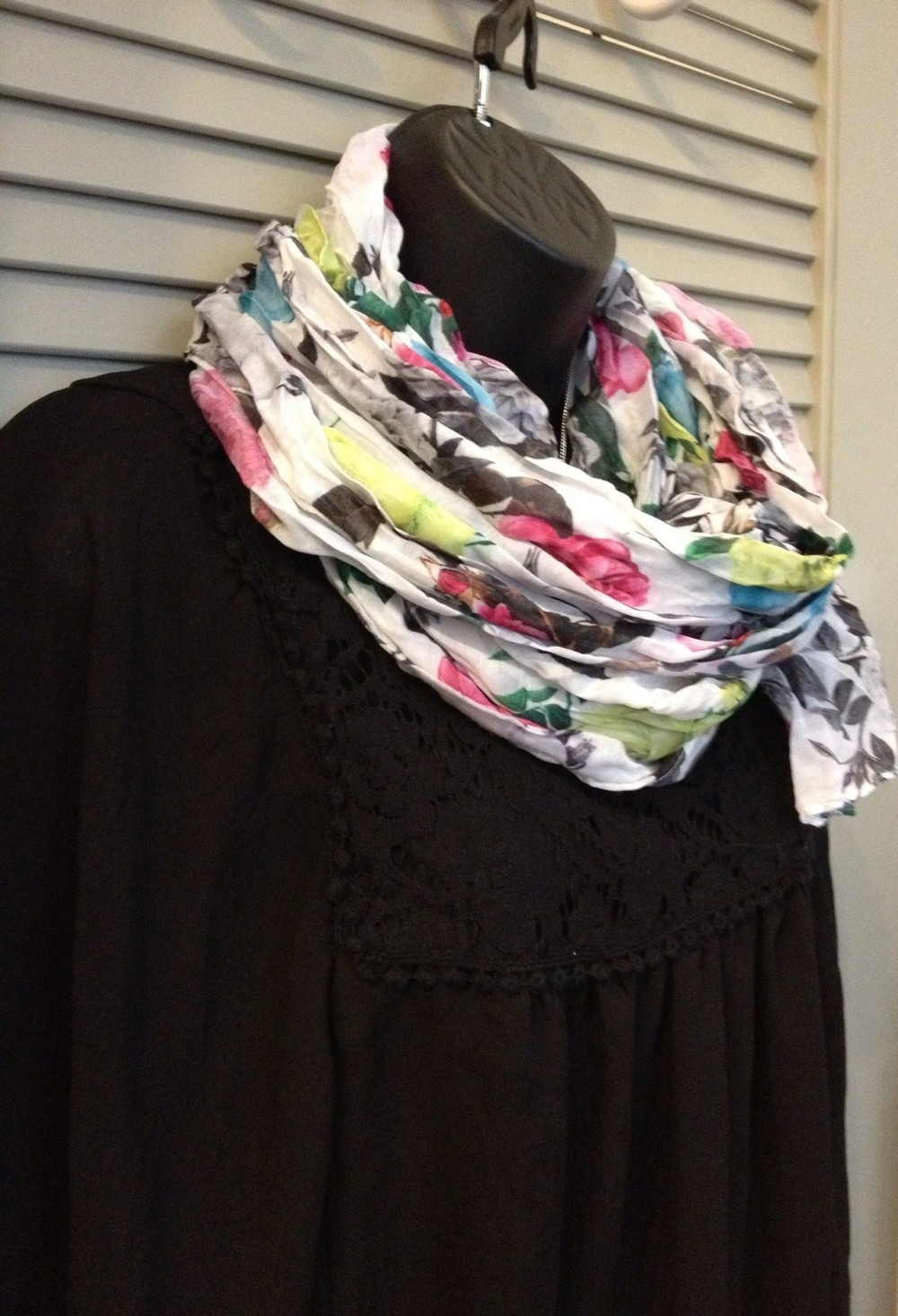 Women's Floral Scarf Click the pic to purchase and enable sustainable food communities in Oakland!
