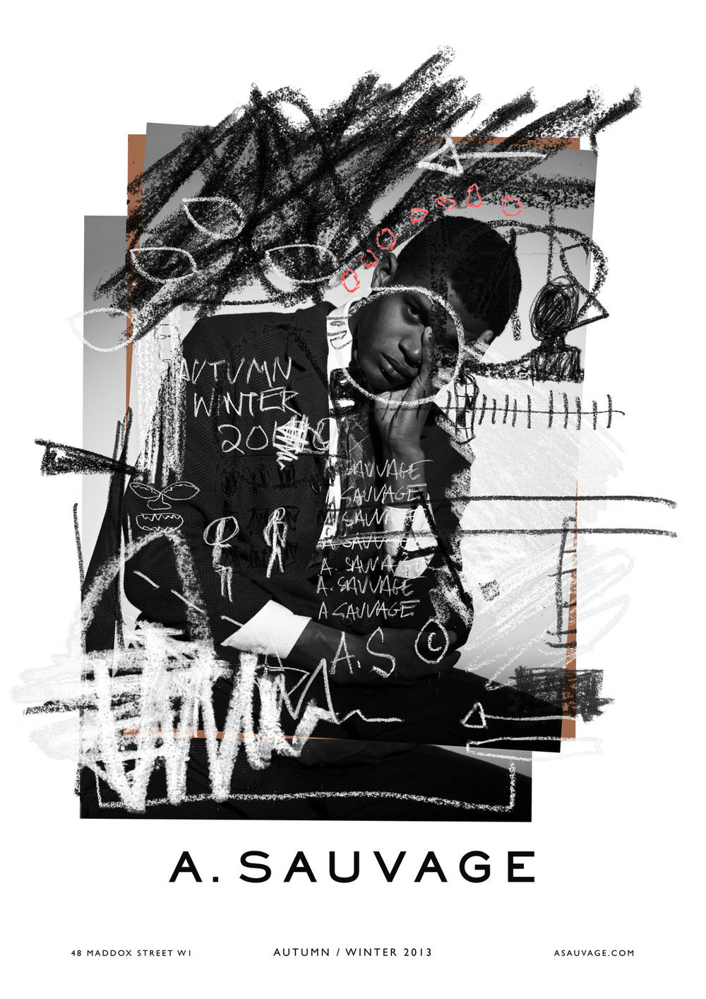 ventureandvirtue: A. Sauvage FW13 x Jean-Michel Basquiat