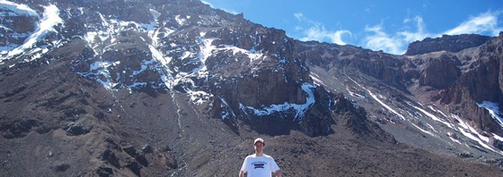 David Clement climbing Kilimanjaro with Kiliwarrior Expeditions
