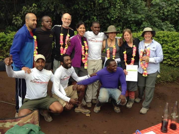 Debbie and Greg MacKay with their diplomas for climbing Kilimanjaro