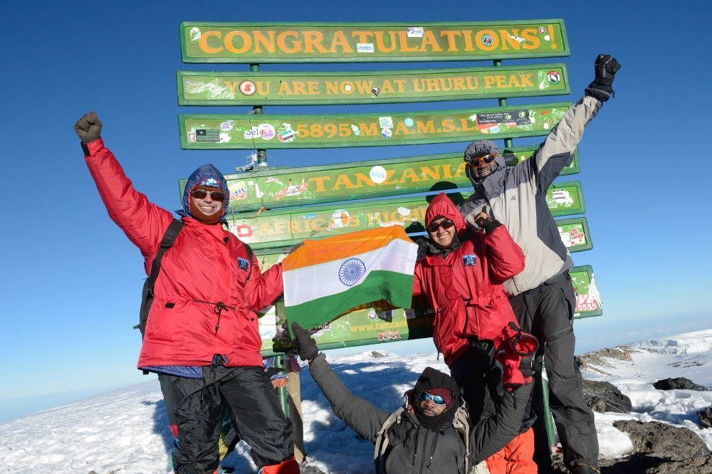 Amartya and Koel Muhkerjee on the top of Kilimanjaro