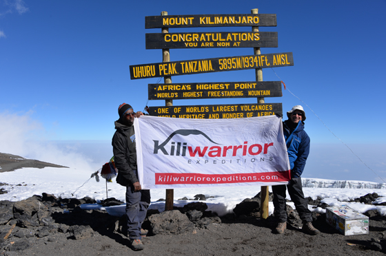 Dr Marc Kates at the Top of Kilimanjaro