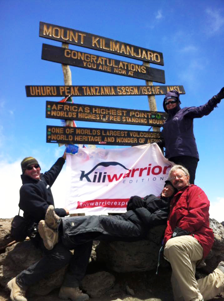 Vicki and Alun Cooksley on the Top of Kilimanjaro