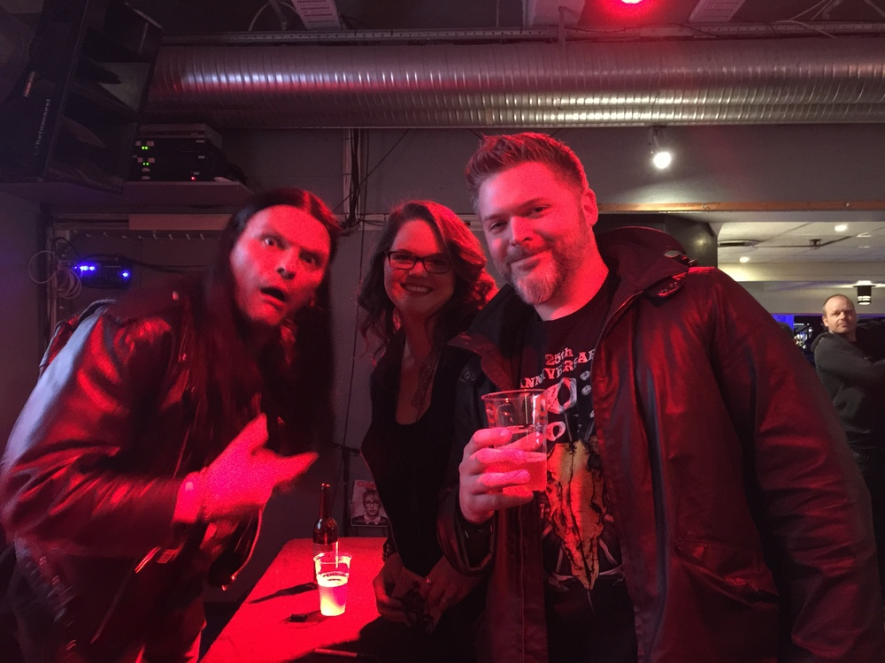 My husband, Tom and I with metal vocalist Abbath in Oslo, Norway at Inferno Festival. (Yes, Abbath always makes faces when you take pics with him.)