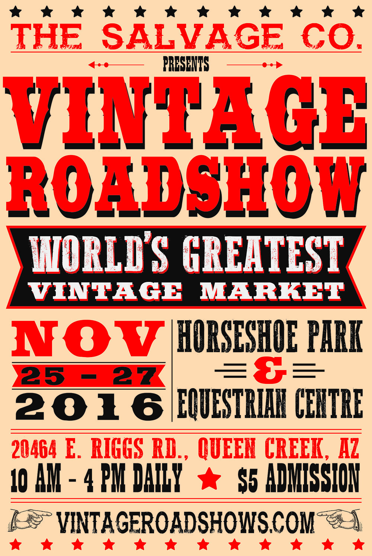 Vintage Roadshow Poster