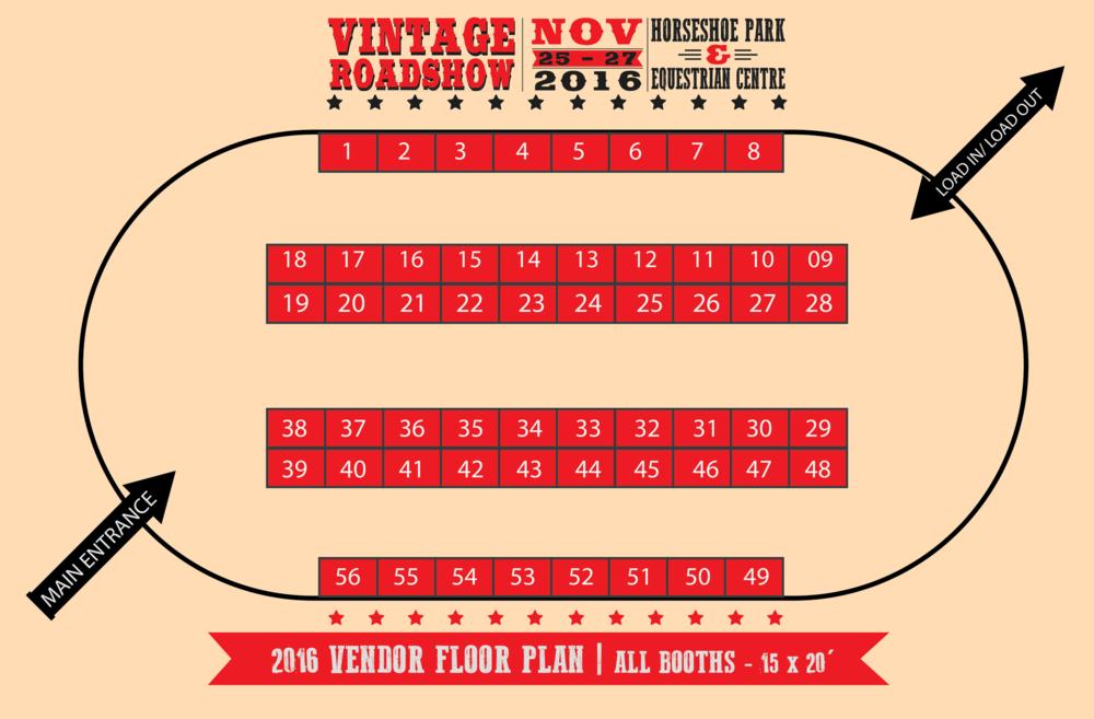 Vintage Roadshow 2016 - Vendor Floor Plan