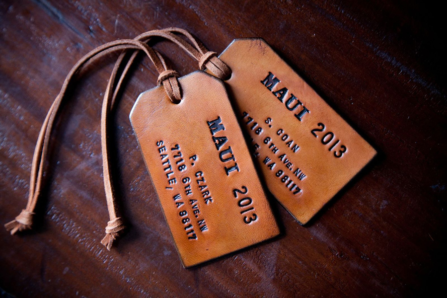 3- luggage tags for guests