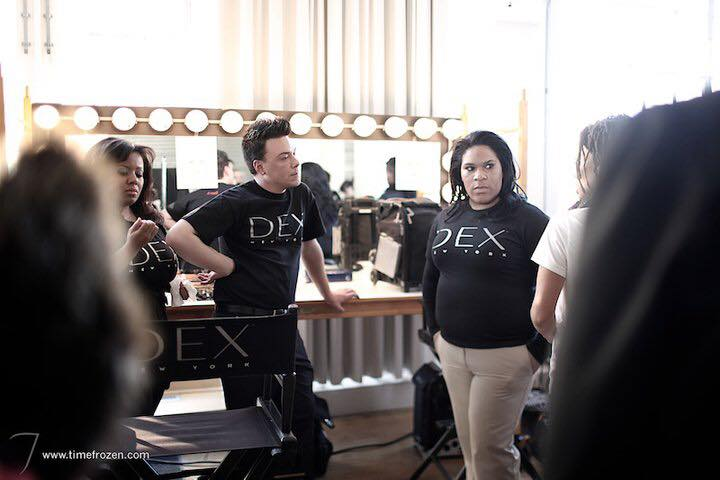 Working New York Fashion Week with Dex New York Cosmetics 1 year into my career.