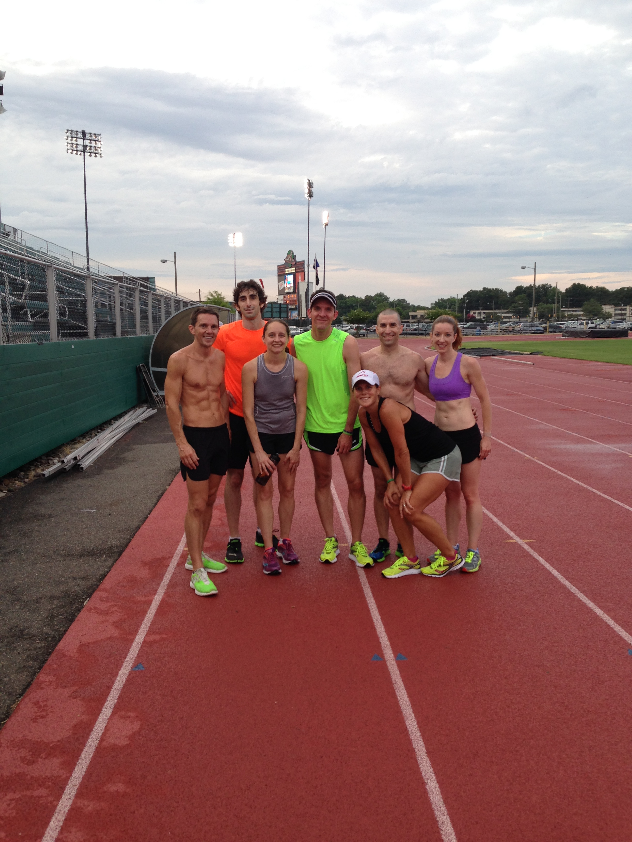 Our group at the track