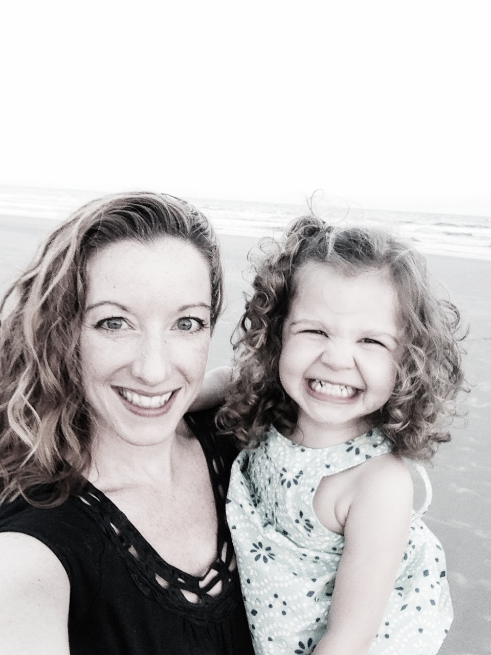 My youngest daughter - beach time!