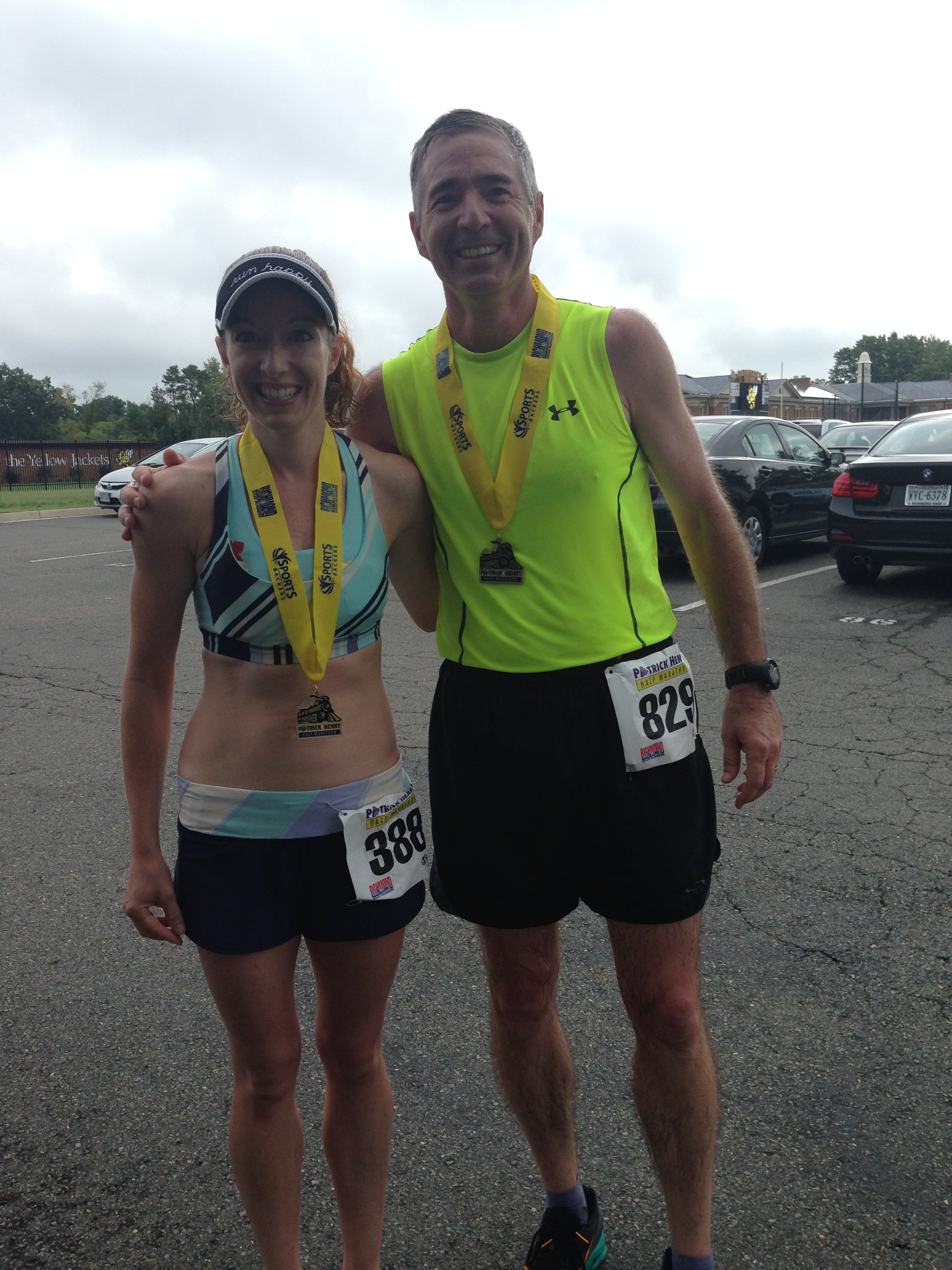 My Dad ran Patrick Henry too!  Still smiling after my disaster of a race!