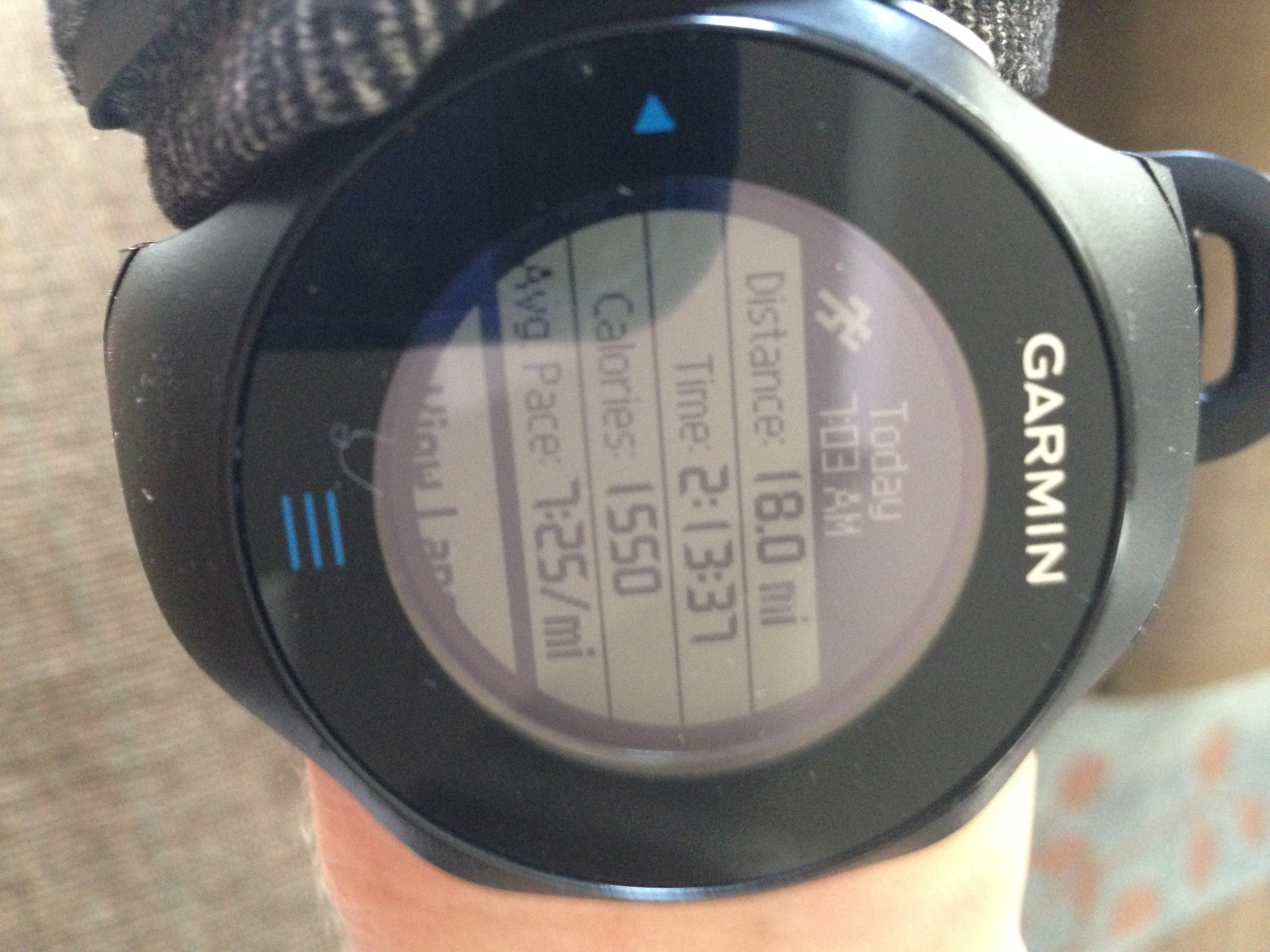 Saturday's long run with marathon paced miles!  Whew.  I was happy to have this done.