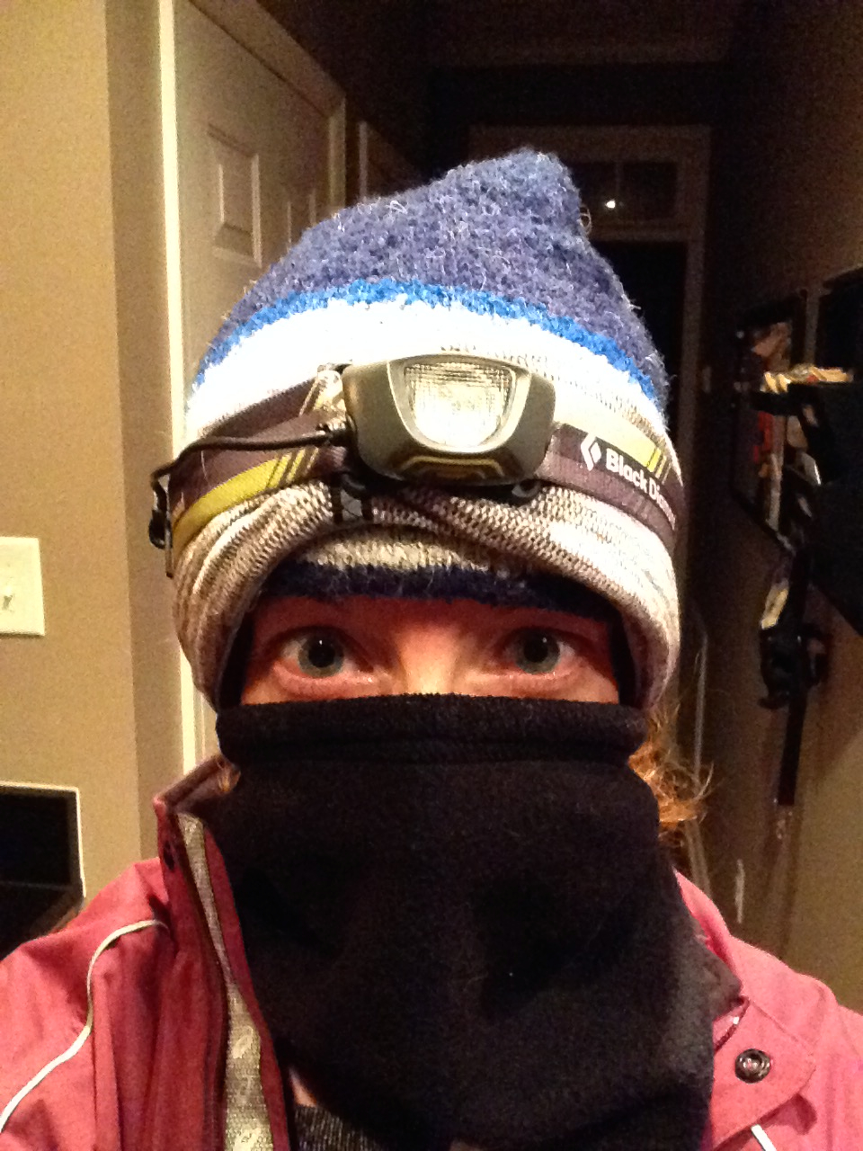9 degrees on my Thursday run.  Yes, that is a hat AND an ear warmer - I know it looks awesome, don't be jealous. :)