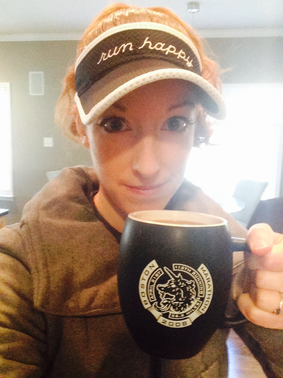 Coffee and a hat were mandatory for run #2 of the day.