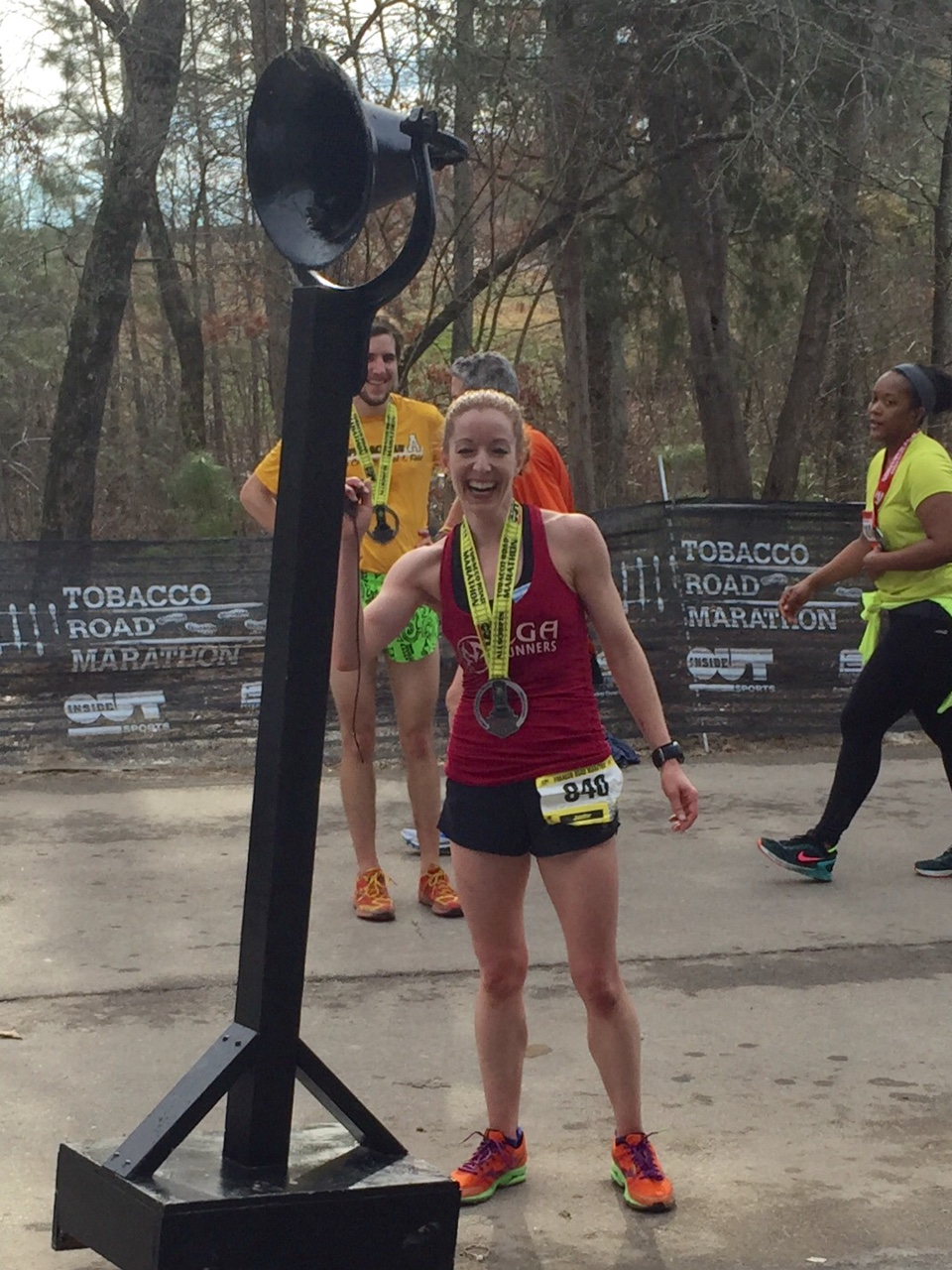 Ringing the PR bell!  (Ignore the fact that my eyes are closed and I look goofy)