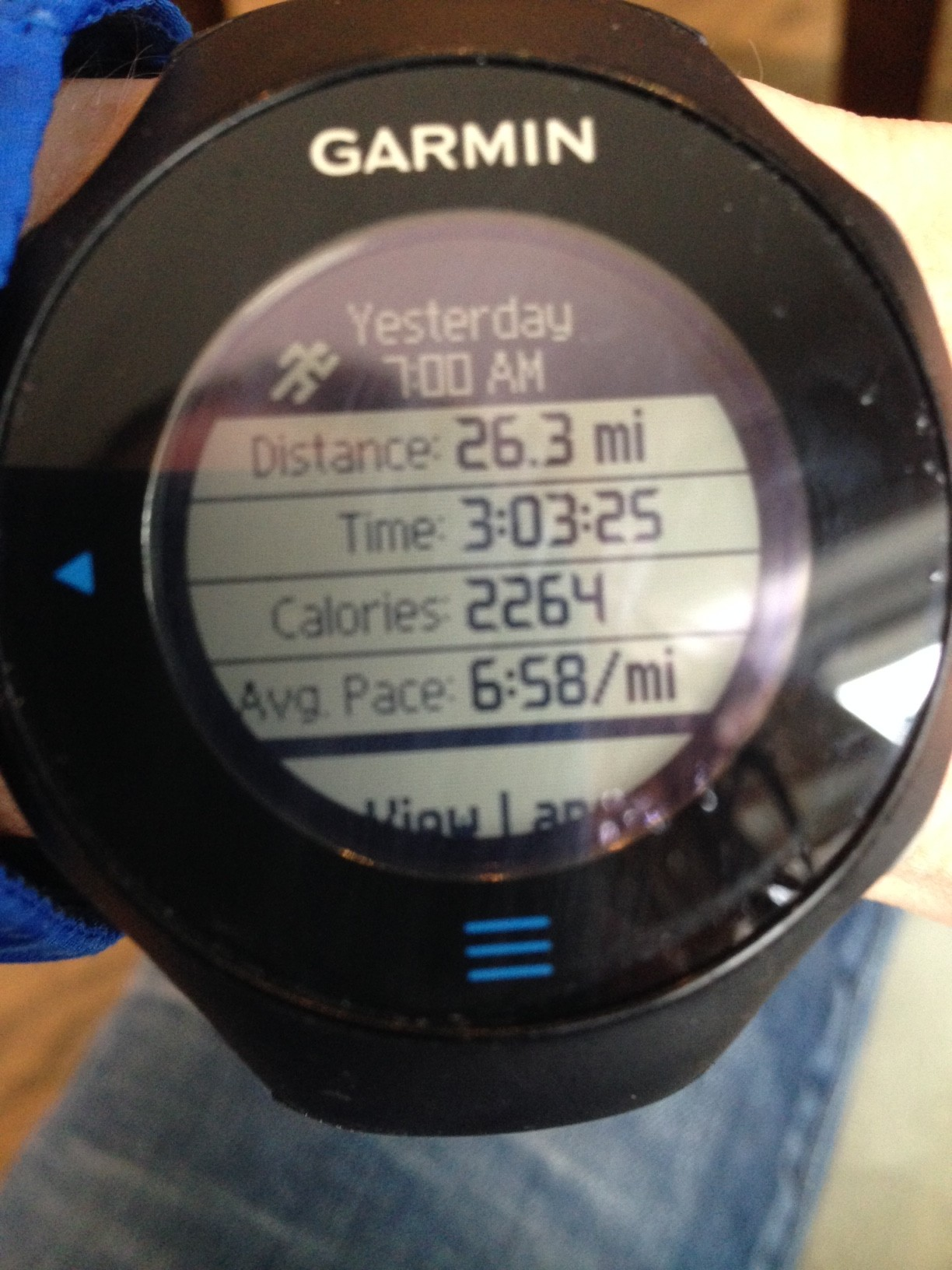 First time I've ever seen an average marathon pace in the 6's on my Garmin - too bad the official average was 7 min!