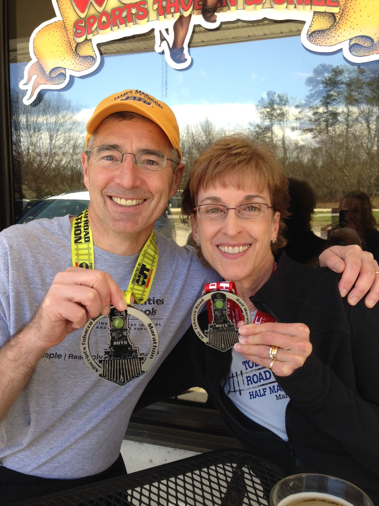 My awesome parents - Dad ran the full and Mom ran the half!  I feel very blessed to have such an active family.