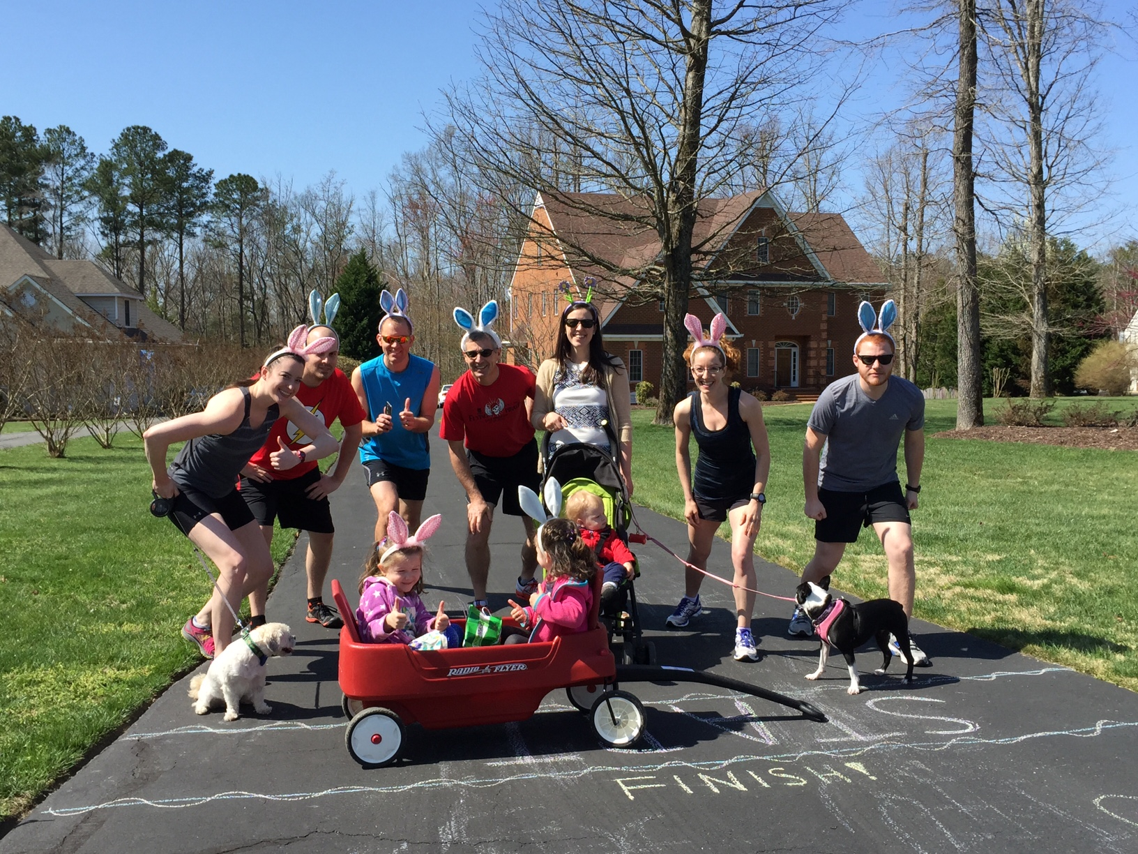 The start of the Buggy Bunny Hop 5K